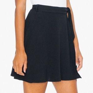 American Apparel Black wrap skirt.